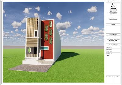 mozaik arsitek : desain rumah type 42 di luas tanah 48m²