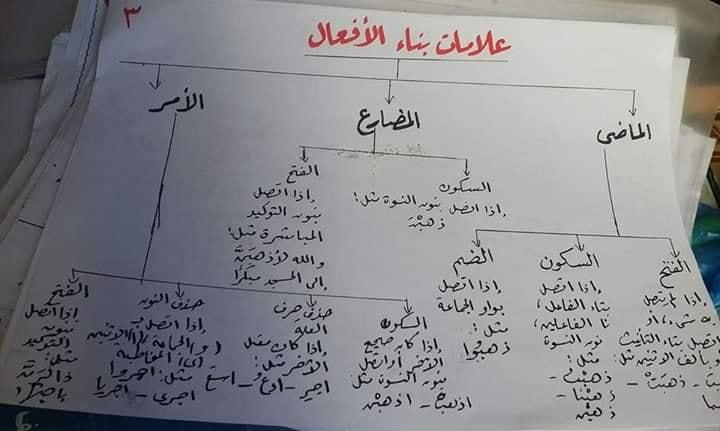 المعرب والمبني من الأفعال للصف الثاني الإعدادي ترم أول أ/ نعمة يوسف 3