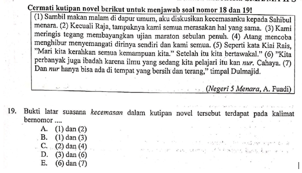 Contoh Soal Bukti Latar Suasana Dalam Cerita Pembahasan Soal Un 2019 Bahasa Indonesia Sma Nomor 19 Zuhri Indonesia