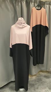 Inspirasi baju lebaran muslimah Polos coksu hitam