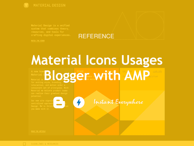 Blogger Template AMP Material Design Icons Tutorial