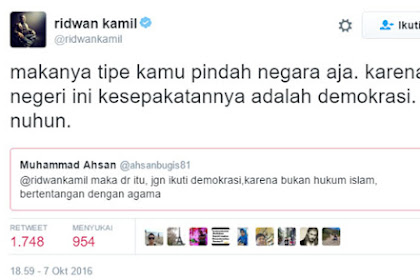 Ridwan Kamil Sarankan Netizen Yang Menginginkan Hukum Islam Pindah Negara