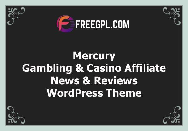 Mercury - Gambling & Casino Affiliate WordPress Theme. News & Reviews Free Download