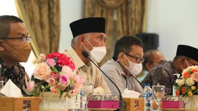 Tingkatkan Kesiapan RS Hadapi Pandemi Covid-19, Gubernur Mahyeldi Pimpin Rapat Evaluasi