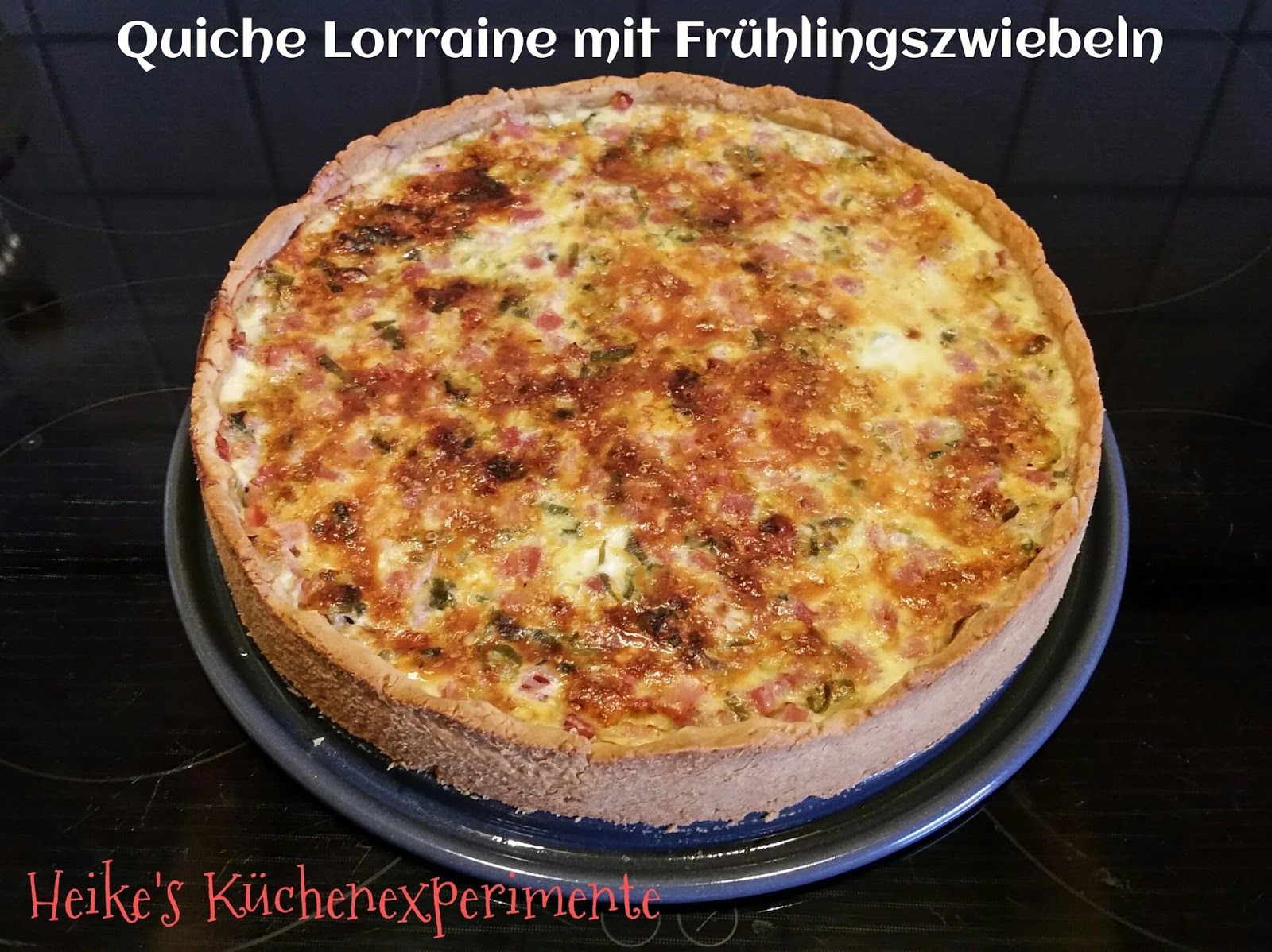 heike 39 s k chenexperimente quiche lorraine mit fr hlingszwiebeln. Black Bedroom Furniture Sets. Home Design Ideas