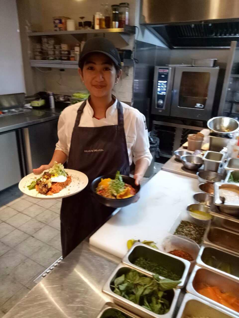 Restaurant Kitchen Manager anihan graduate, the kitchen manager of a restaurant in rockwell