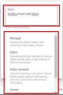 Cara Mudah Menambahkan User Pengelola YouTube