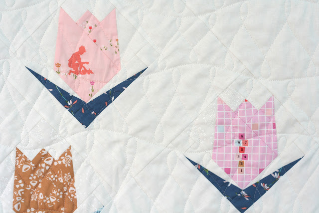 Tulip Quilt by Wooden Spoon Quilts