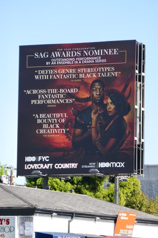 Lovecraft Country SAG Awards nominee 2021 billboard