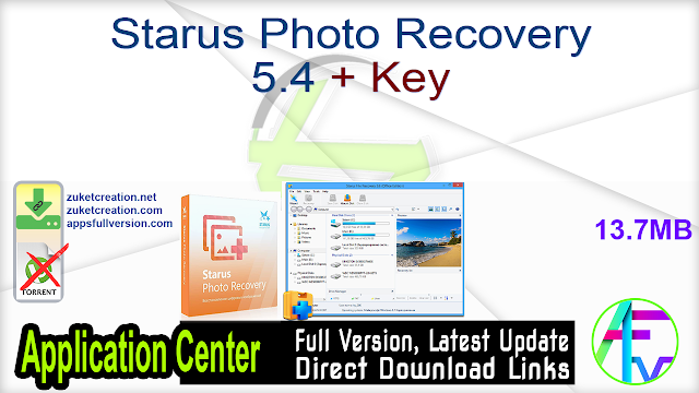 Starus Photo Recovery 5.4 + Key