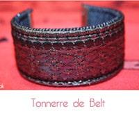 Ceintures et bracelets Tonnerre de Belt