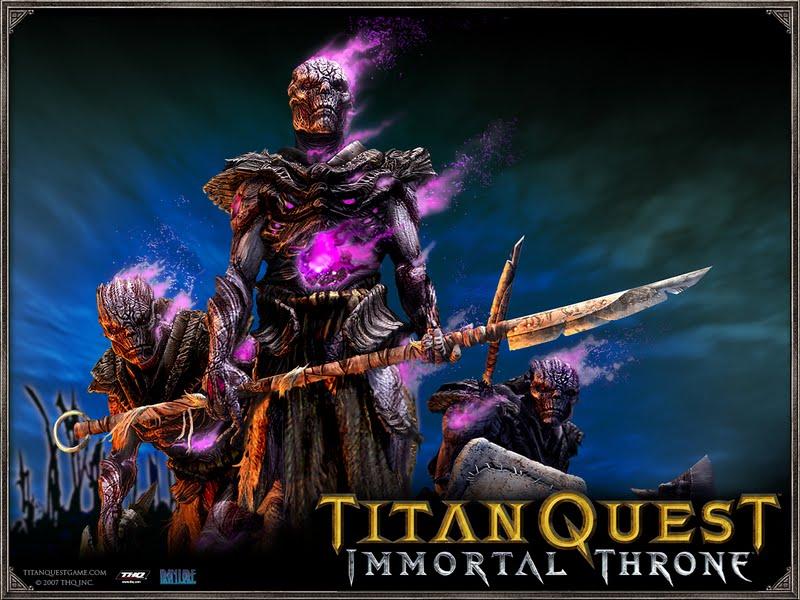 Titan Quest: Immortal Throne (2007) Windows box cover art