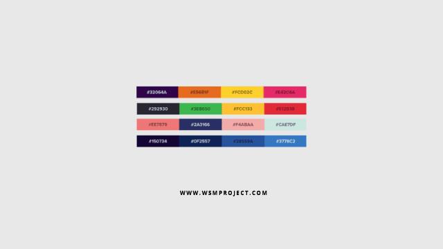 kombinasi warna web