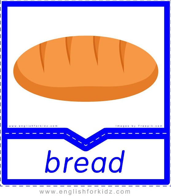 Bread - English food flashcards for ESL students