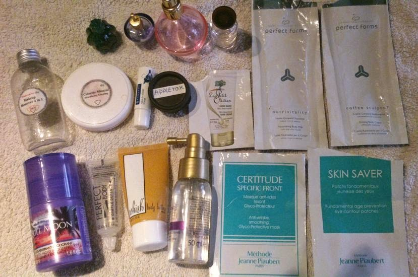 Cosmeticos terminados y muestras de cremas. Cosmetica de Olga