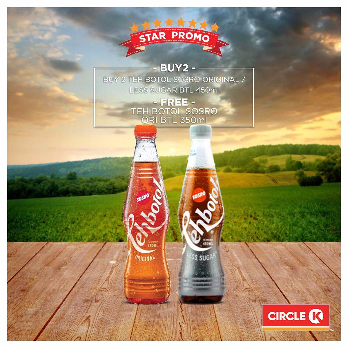 CircleK - Promo Buy 2 Get 1 Free Teh Botol Sosro