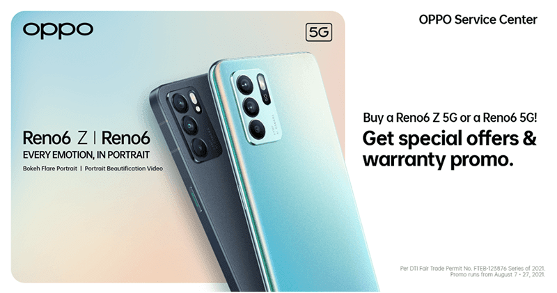 OPPO offers special perks and warranty offer with the Reno6 series