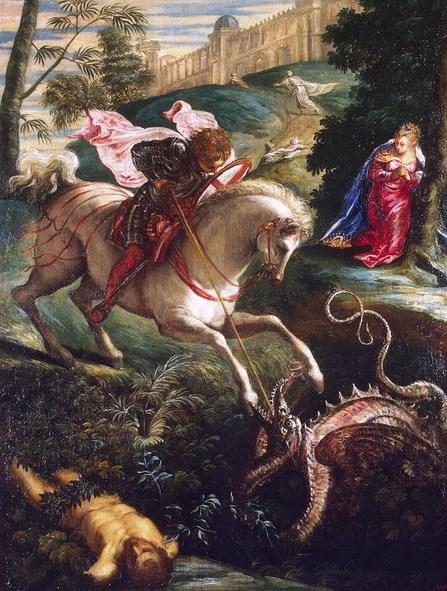 Georgius: Sejarah Lambang Salib Merah pada Prajurit Crusader bertarung melawan naga