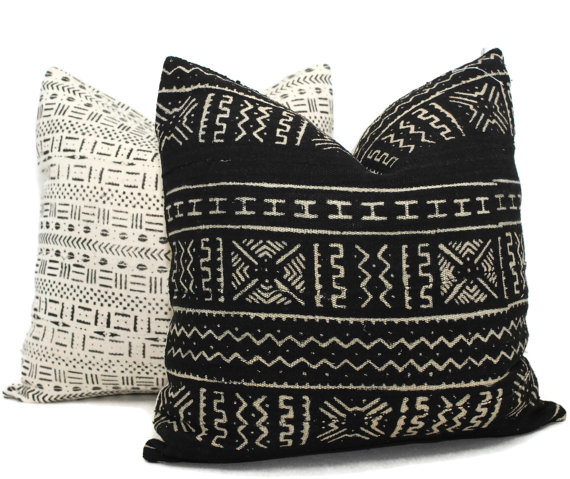 mud cloth pillow covers etsy