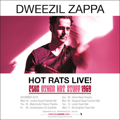 DWEEZIL ZAPPA returns to the UK in December 2019 with Hot Rats Live! Tour