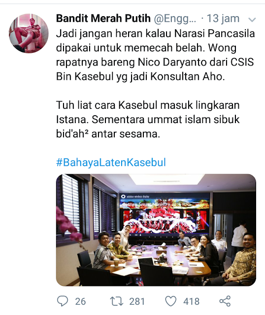 .Warganet Bongkar Jaringan Katolik CSIS Masuk Istana Memecah Belah Umat Islam