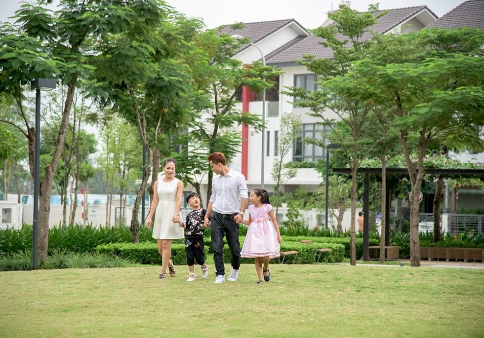 Không gian xanh tại dự án Gamuda Gardens