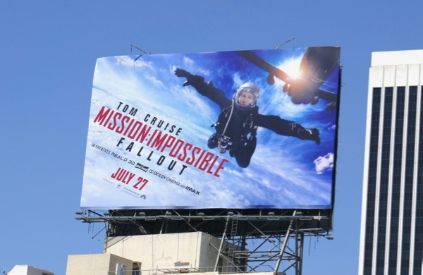 Mission Impossible Fallout film billboard