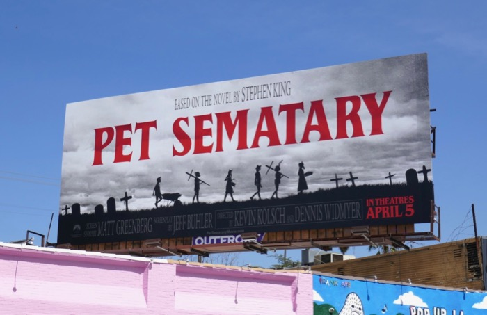 Pet Sematary movie remake billboard