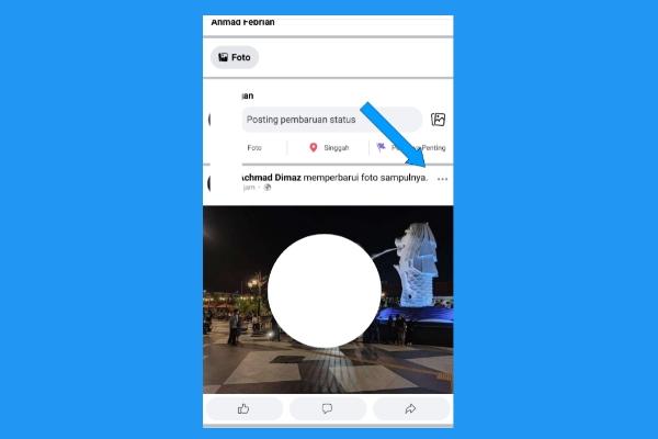 Cara Membuat Foto Profil Facebook Kosong