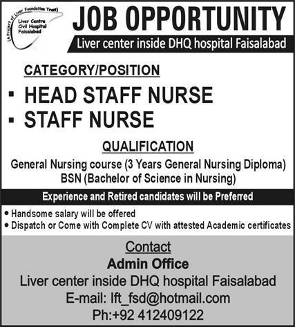 Liver Centre Jobs 2021 in Faisalabad
