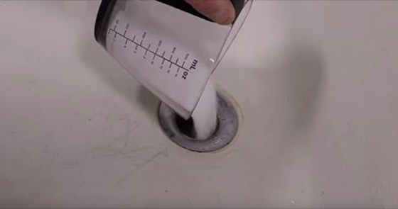 He Pours A Full Cup Of Salt Down The Drain. The Reason Will Amaze You!