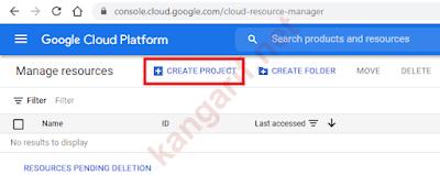 klik create project