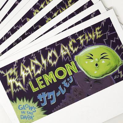 Sour Lemon Radioactive Glow in the Dark Edition Vinyl Figure by Anti-Social Sofubi