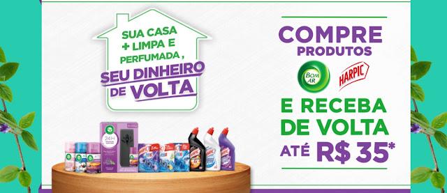 Promoção Casa Limpa Perfumada Bom Ar e Harpic