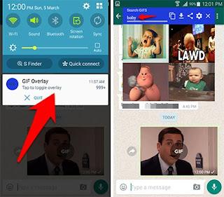 شرح طريقة استخدام تطبيق GIF Share Overlay