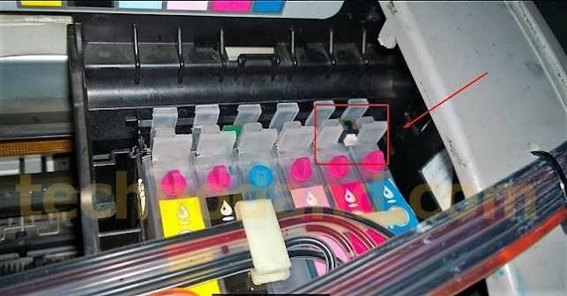 Printer Epson Stylus Photo 1390 Tinta tidak terdeteksi [ chip tidak terdetek ]
