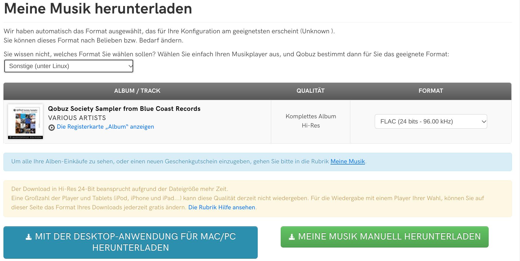 Qobuz kostenlos testen und ein gratis Hi-Res Album sichern