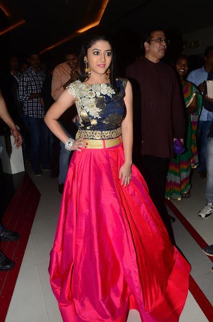 Shriya Sharma in Long Skirt and Crop Top at Nirmala Convent Premiere Show