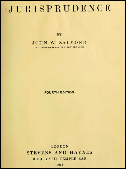 Salmond On Jurisprudence Book