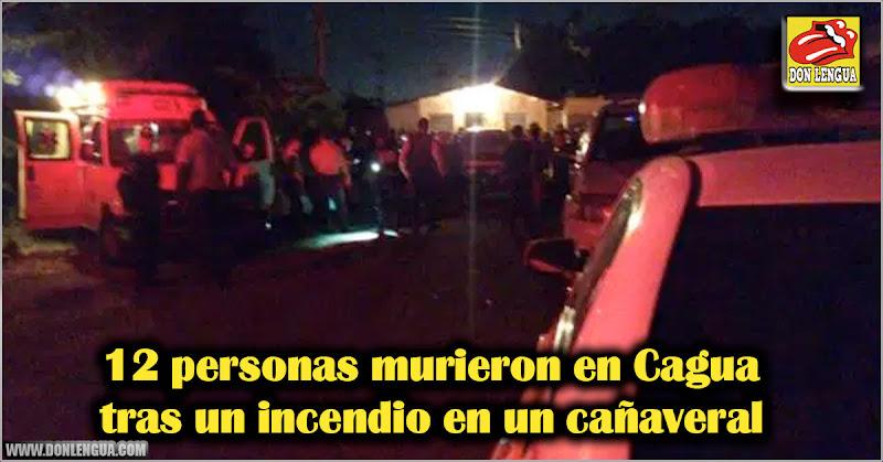 12 personas murieron en Cagua tras un incendio en un cañaveral