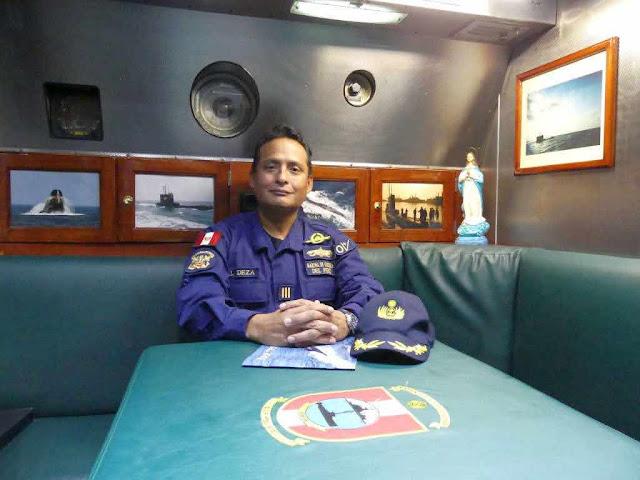 Capitán de Fragata Luis Deza Guzmán, Comandante del BAP Pisagua
