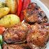 Pieczony kurczak z warzywami z nutą wędzonki