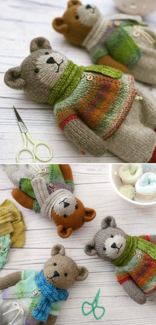 Knitted Teddy Bear - Knitting Pattern