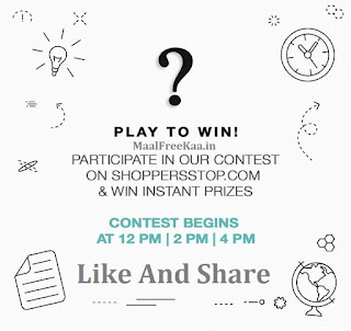 Play To Win Free Shoppers Stop