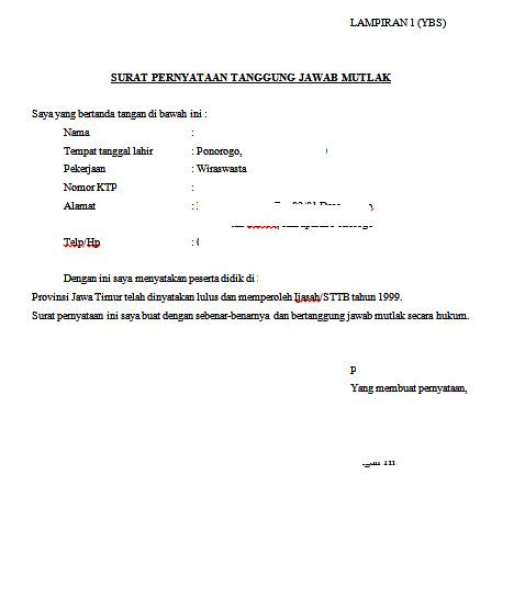 Contoh Surat Pernyataan Hilang Tracy Notes