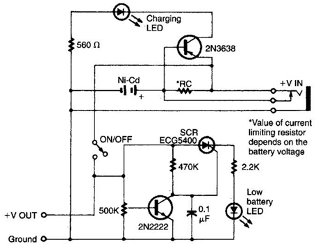 Intelligent Battery-Charging Circuit Diagram