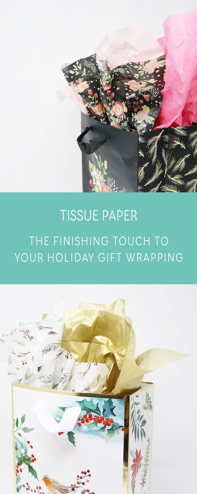 Holiday Gift Wrapping Inspiration - Tissue paper is the finishing touch!   creativebag.com