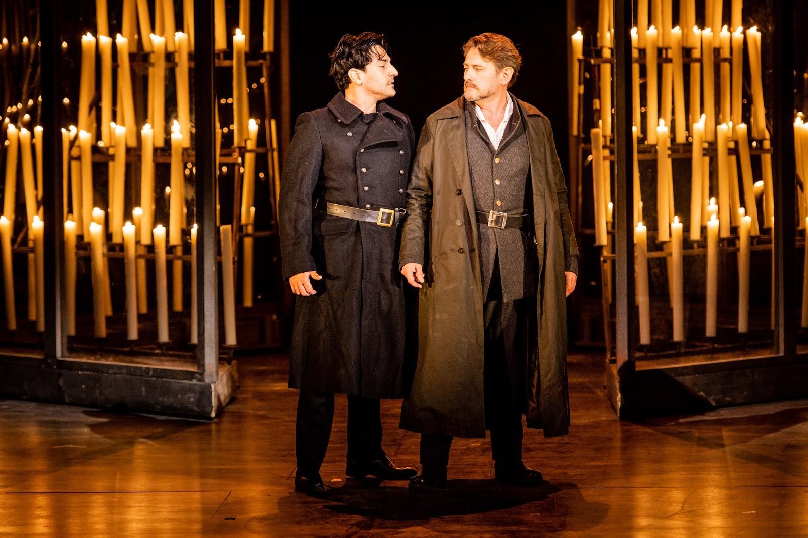 Verdi: Don Carlo Act 1 - Leonardo Capalbo, Brett Polegato - Grange Park Opera 2019 (Photo Robert Workman)