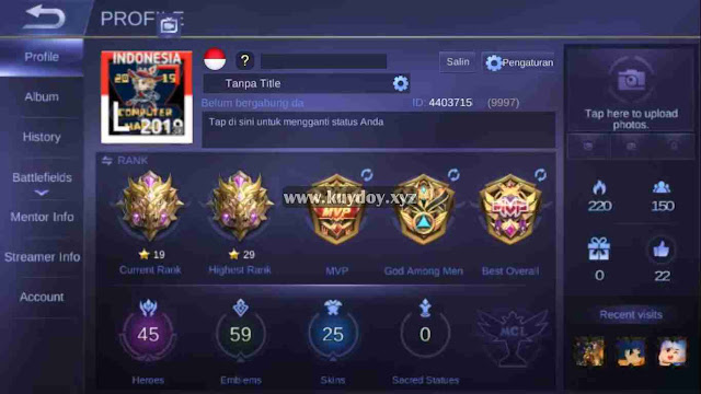 Download Script Custom Border Bendera Indonesia Mobile Legends