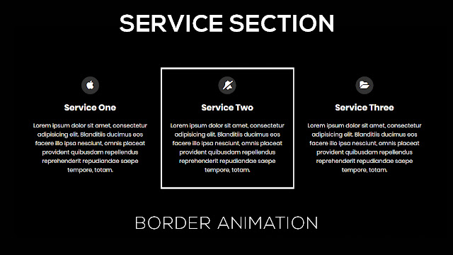 Service Section with Border Animation on Hover